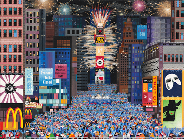 NY Times Square Kiss - Art Metal Print