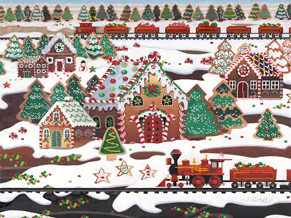 Holiday Gingerbread House Delicious Art Prints