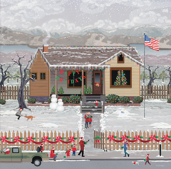 American Christmas Carolers Metal Art Prints
