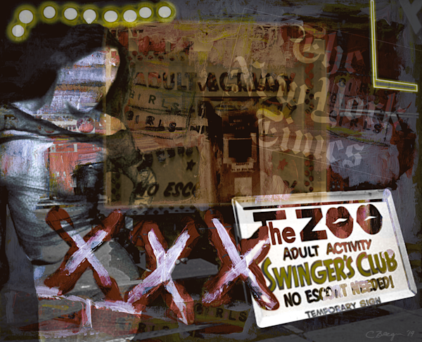 The Zoo (Times Square circa 1975), 2019, by artist Carolyn A. Beegan