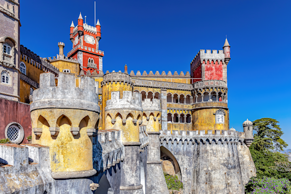 Moorish- and Manueline-style Sintra National Palace, Pena National Palace, Portuguese Riviera, Castle, Portugal
