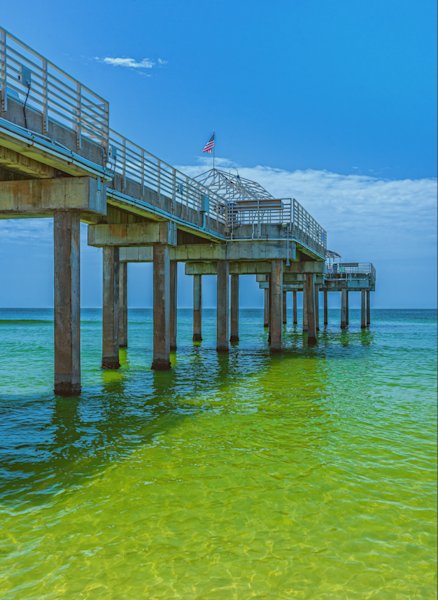 Pier Over Clear Water