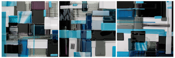 Blue Silver Set Art by natalieventimiglia