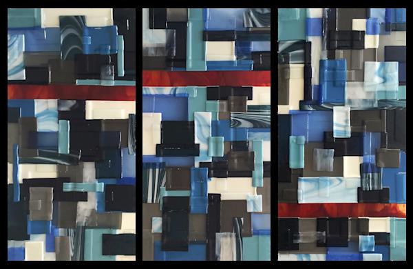 Blue Red Vertical Set Art   Natalie Ventimiglia Studios