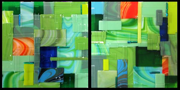 Green Square Set Art | Natalie Ventimiglia Studios