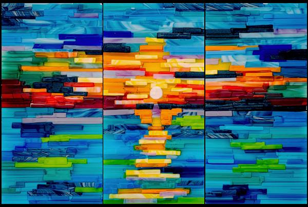 Thunderbird Sunset Set Art   Natalie Ventimiglia Studios