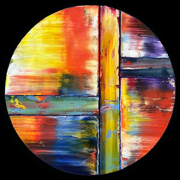 Sunsplitting original PMS abstract painting