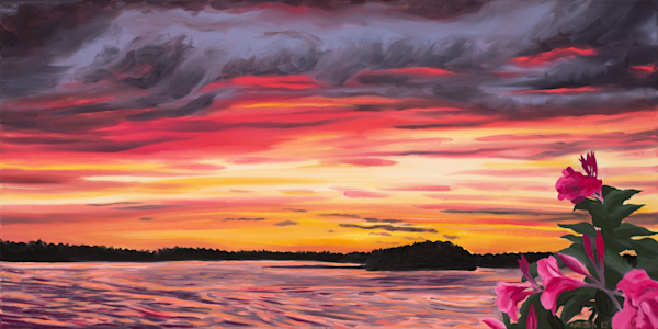Sunset Art by Natasha Bogar - Original Paintings and Fine Art Prints