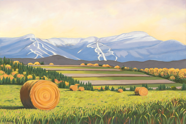 Vermont Farm Harvest Art for Sale