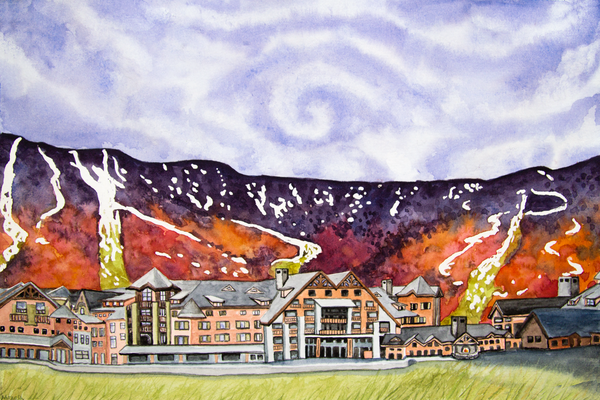 Stowe Mountain Lodge Art for Sale