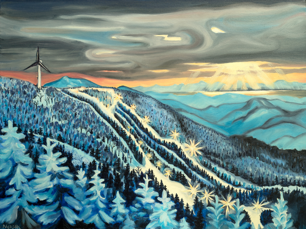 'Vista Lights' Bolton Valley Art for Sale