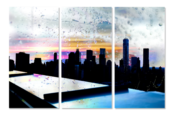 The City That Never Sleeps - 3 Piece Landscape Art