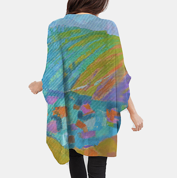 Jewel Colors Cocoon Wrap by Dorothy Fagan
