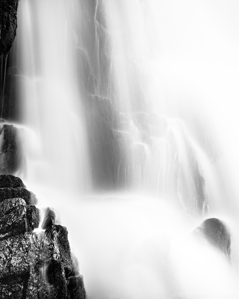 Fine Art Print | Abrams Falls in Black and White