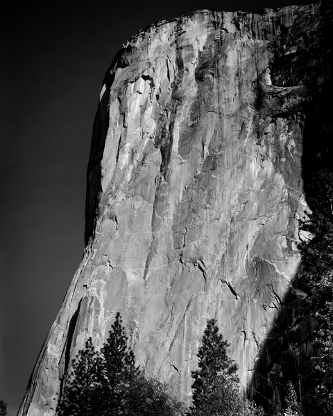 Fine Art Print | The Face of El Capitan in Dramatic B&W