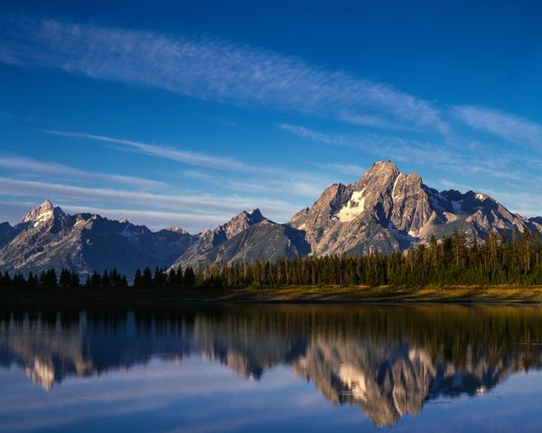 Fine Art Print | Mt Moran and the Teton Mts & Reflection