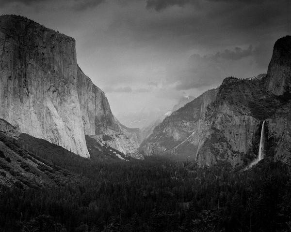 Print of Yosemite Valley in B&W