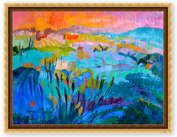 Bold Colors Abstract Painting Collectors Edition by Dorothy Fagan