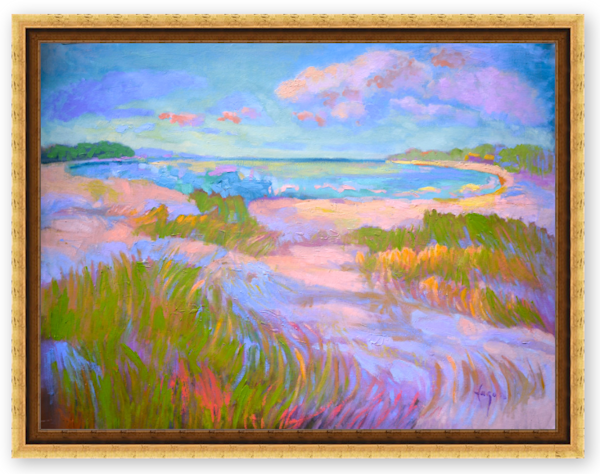 Beautiful Beach Painting on Canvas by Dorothy Fagan