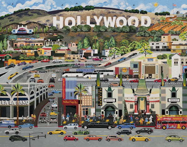 Hollywood California, Movies Stars, Fun Art Prints delivered to your door!