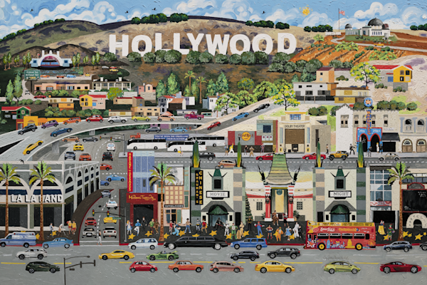 Hollywood California, Movies Stars, Fun Metal Art Prints delivered to your door!