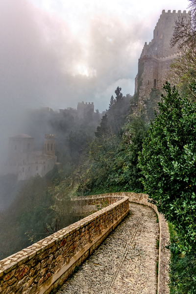 mountain-top town, Torretta Pepoli, Venus Castle, Ceramics from Erice, Woven carpets, Erice, Sicily, Italy