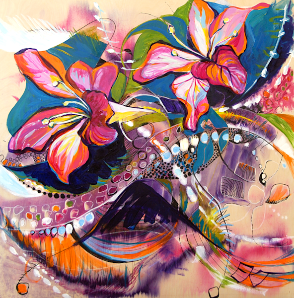 Purple Orchid Tree Road Art | Emily Tanaka - Have to Create