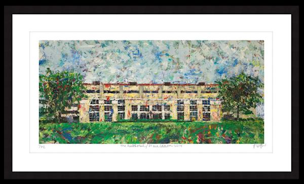 The Fieldhouse, Plaza Edition print 2019 // Megh Knappenberger
