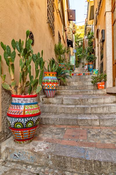 Pottery, Ceramics, Latin, Ancient Greek, Roman, Taormina, Sicily, Italy