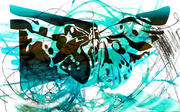 Turquoise Butterfly Art | Emily Tanaka - Have to Create