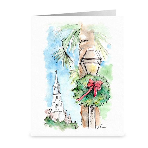 Charleston Watercolor Christmas Notecards