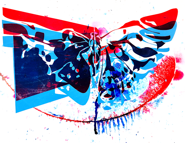Red Blue Butterfly Art | Emily Tanaka - Have to Create
