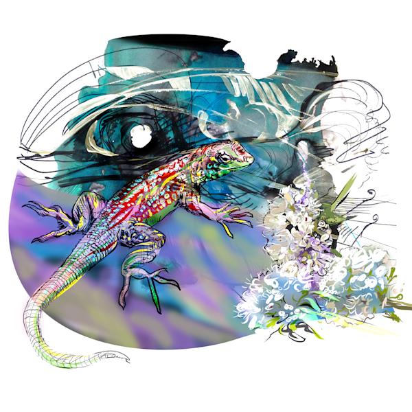 Night Lizard Art | Emily Tanaka - Have to Create