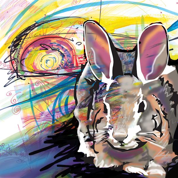 Sunset Rabbit Art | Emily Tanaka - Have to Create