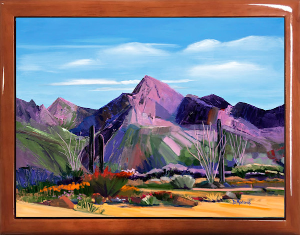 Pink Ocotillo at Pusch Ridge Keepsake Box Brown