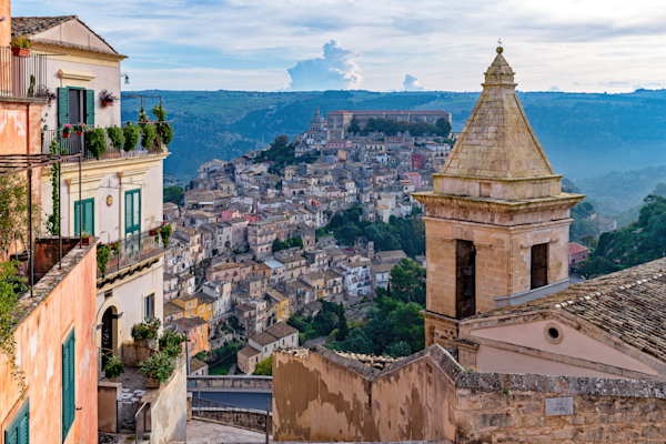 UNESCO-listed Baroque towns of south-eastern Sicily, Hilltop Village, Ragusa Ibla, Sicily, Italy