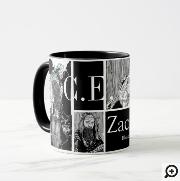 Dungeons & Dragons themed coffee mug