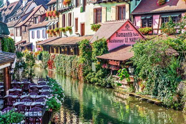 Garden Views, Waterways, Canals, Old Town, Colmar, France