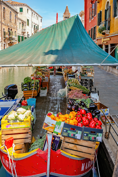 Floating Vegetable Barge, Venice, Italy