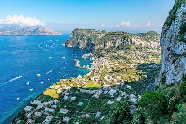 Villa San Michele, Marina Grande, Isle of Capri, Sorrento Peninsula, Gulf of Naples, Mediterranean Sea, Italy