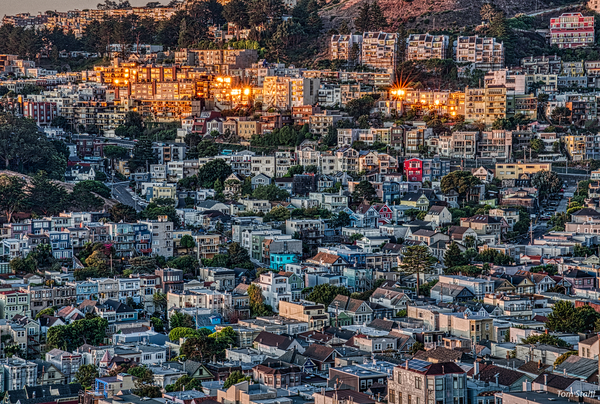 Sunrise on the San Francisco hills, 2019.