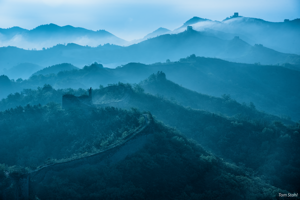 Moody morning, Gubeikou Great Wall, China, 2017.