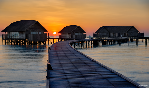 maldives sunrise beach houses stilt