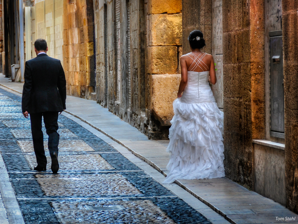 Groom and bride, Tarragona, Spain, 2014.