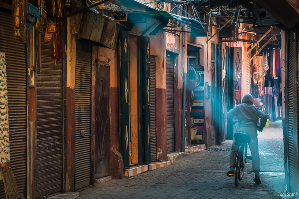 Bicycling the medina, Marrakesh, Morocco, 2015.