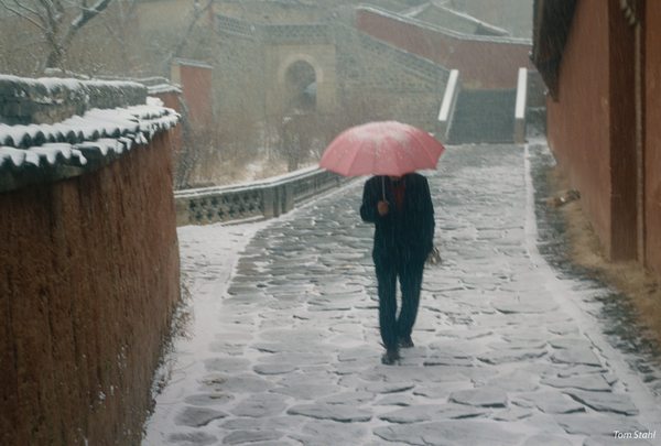 Snowstorm, Wutaishan Temple, China, 1994.