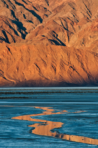 Salt flat sunrise, Death Valley, 2009.
