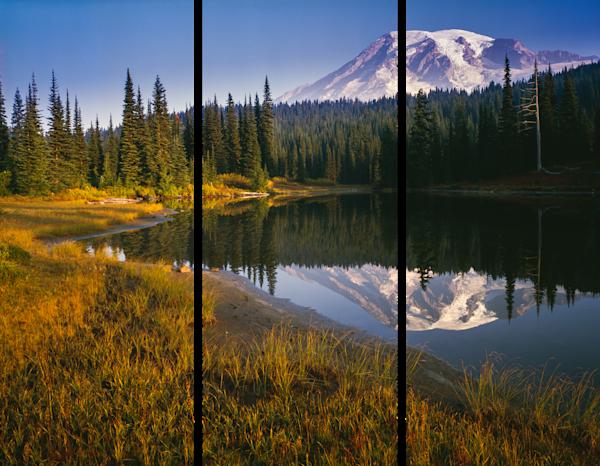 Fine Art Multi-Panel Print of Mt Rainier Morning Light