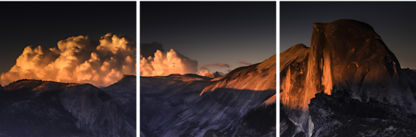 Half Dome Evening Glow | Multi Panel Print Art | Robert Vielee Photography