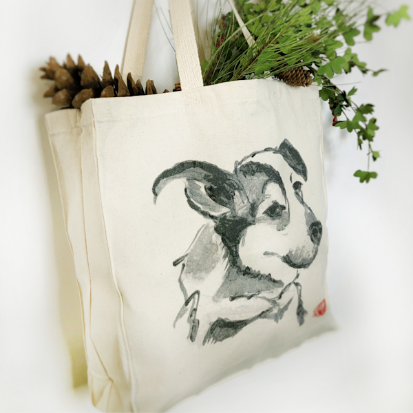 Tote Bags: Dog